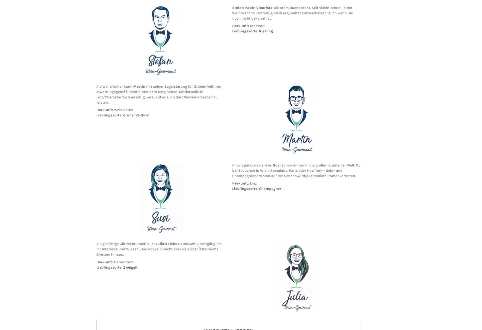 Die sogenannten Vinoristi sind die Botschafter von Vinorista.com - Sie verkosten jeden Wein der auf der Website zu erwerben ist und bringen somit eine persönliche Note ein.