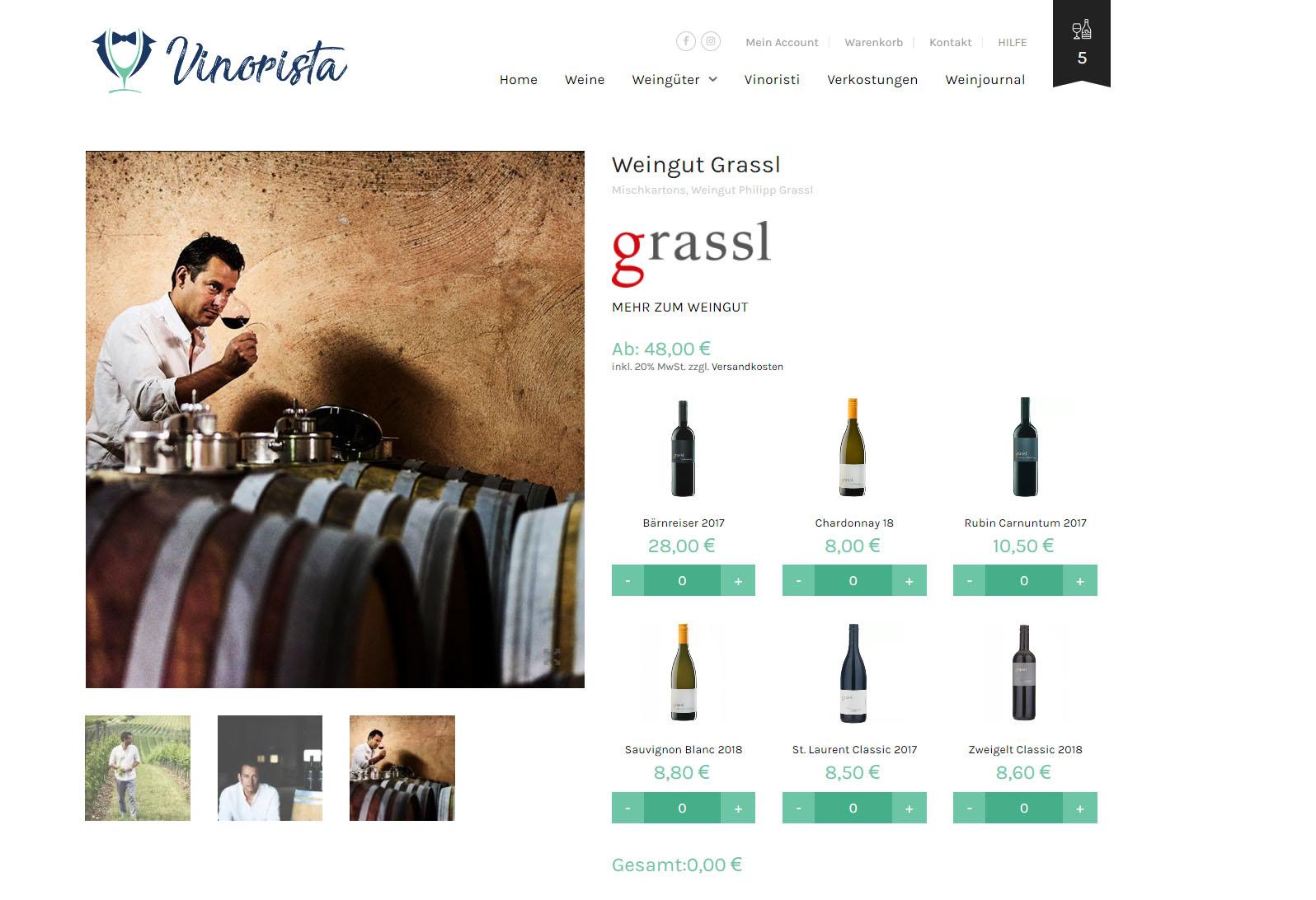 Jedes Weingut stellt seine besten Produkte zur Verfügung - durch das Marktplatzprinzip, sorgt der Weinbauer auch für den Versand des Weins nach der Bestellung - Ansprechpartner für den Endkunden ist jedoch immer Vinorista.com!